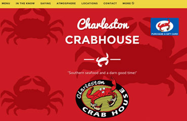 Charleston Crab House Web Design