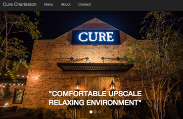 Cure Steakhouse Charleston SC Web Development