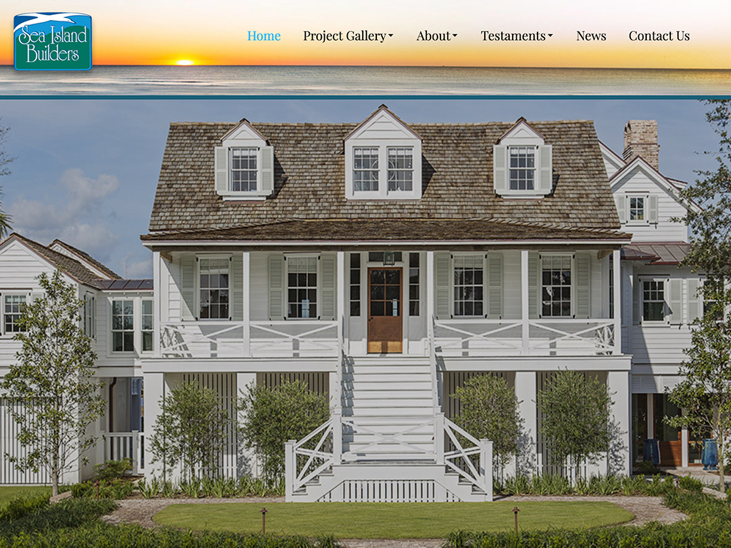 Sea Island Builders Charleston SC Web Development
